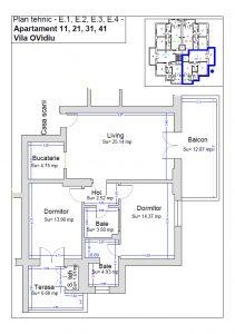 Plan tehnic etaj 1, ap. 11